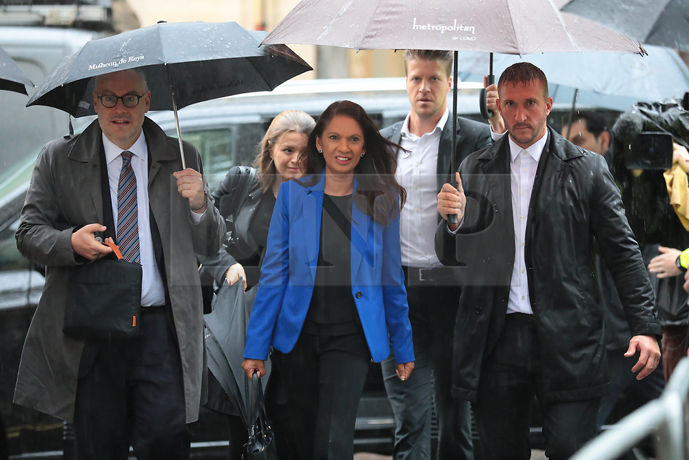 © Licensed to London News Pictures. 24/09/2019. London, UK. GINA MILLER arrives at the Supreme Court in London where judges will deliver their verdict on the legality of Prime Minister Boris Johnson's suspension of Parliament. Photo credit: Rob Pinney/LNP