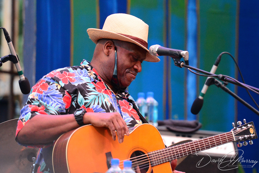 Taj Mahal performs with his trio at the Prescott Park Art Festival in Portsmouth, NH, August 22, 2014