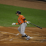 Carlos Gomez, Houston Astros, batting during the New York Yankees Vs Houston Astros, Wildcard game at Yankee Stadium, The Bronx, New York. 6th October 2015 Photo Tim Clayton for The Players Tribune