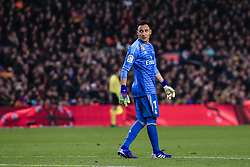 February 6, 2019 - Barcelona, Spain - 01 Keylor Navas of Real Madrid during the semi-final first leg of Spanish King Cup / Copa del Rey football match between FC Barcelona and Real Madrid on 04 of February of 2019 at Camp Nou stadium in Barcelona, Spain  (Credit Image: © Xavier Bonilla/NurPhoto via ZUMA Press)
