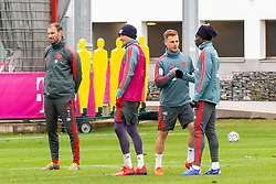 14.03.2019, Säbener Strasse, Muenchen, GER, 1. FBL, FC Bayern Muenchen vs 1. FSV Mainz 05, Training, im Bild v.l. Torwarttrainer Tom Starke (FC Bayern), Thomas Müller (FC Bayern), Joshua Kimmich (FC Bayern), Alphonso Davies (FC Bayern) // during a trainings session before the German Bundesliga 26th round match between FC Bayern Muenchen and 1. FSV Mainz 05 at the Säbener Strasse in Muenchen, Germany on 2019/03/14. EXPA Pictures © 2019, PhotoCredit: EXPA/ Lukas Huter