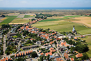 Nederland, Noord-Holland, Texel, 14-07-2008; Den Hoorn met het karakteristieke kerkje; Nederlands Hervormd, hervormde kerk; . .luchtfoto (toeslag); aerial photo (additional fee required); .foto Siebe Swart / photo Siebe Swart