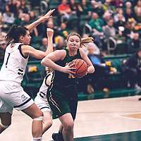 4th year forward, Alexi Rowden (10) of the Regina Cougars during the Women's Basketball Home Game on Sat Nov 03 at Centre for Kinesiology,Health and Sport. Credit: Arthur Ward/Arthur Images