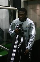 Photo: Andrew Unwin.<br /> Newcastle United v Celta Vigo. UEFA Cup. 23/11/2006.<br /> Newcastle's Obafemi Martins starts on the bench.