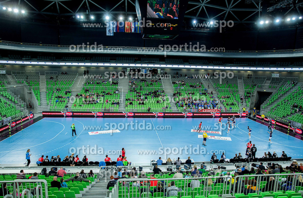 Arena Stozice during handball match between RK Krim Mercator (SLO) and RK Buducnost (MNE) in Round #3 of Main Round of EHF Women's Champions League 2014/15, on February 13, 2015 in Arena Stozice, Ljubljana, Slovenia. Photo by Vid Ponikvar / Sportida