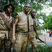 Statues of soldiers at the Vietnam Memorial in Washington DC.