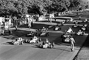 Competitors on the starting grid at the Shellsport Formula Ford Final in the Phoenix Park. The trophy was won by Belfast driver Trevor Templeton.<br />