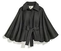 kenzo black cape jacket