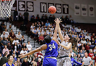 November 5, 2016: The York College Panthers play against the Oklahoma Christian University Lady Eagles in a homecoming exhibition game in the Eagles Nest on the campus of Oklahoma Christian University.