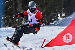 Europa Cup Finals Banked Slalom, LESLIE John, CAN at the 2016 IPC Snowboard Europa Cup Finals and World Cup