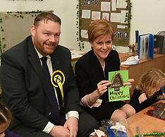 Nicola Sturgeon campaigns in Midlothian, Hardengreen, 4 December 2019