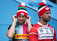 Football - 2019 / 2020 Gallagher Premiership Rugby - New Season Launch Media Photocall<br /> <br /> Harlequins Mike Brown and Gloucester Rugby's Danny Cipriani during the photocall, at Twickenham.<br /> <br /> COLORSPORT/ASHLEY WESTERN