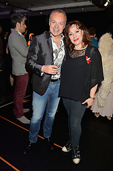 GRAHAM NORTON and HARRIET THORP at the West End Eurovision in aid of MAD - The Make A Difference Trust held at the Dominion Theatre, 268-269 Tottenham Court Road, London on 22nd May 2014