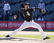 CHICAGO - APRIL 25:  Joakim Soria #48 of the Chicago White Sox pitches against the Seattle Mariners on April 25, 2018 at Guaranteed Rate Field in Chicago, Illinois.  (Photo by Ron Vesely)   Subject:   Joakim Soria