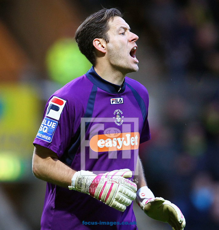 Picture by Paul Chesterton/Focus Images Ltd +44 7904 640267.26/01/2013.Mark Tyler (Luton Town) during The FA Cup 4th Round match at Carrow Road, Norwich.