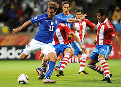 14.06.2010, Cape Town Stadium, Kapstadt, RSA, FIFA WM 2010, Italien vs Paraguay im Bild Alberto Gilardino (Italia)., EXPA Pictures © 2010, PhotoCredit: EXPA/ InsideFoto/ G. Perottino, ATTENTION! FOR AUSTRIA AND SLOVENIA ONLY!!! / SPORTIDA PHOTO AGENCY