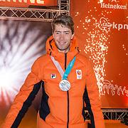 NLD/Amsterdam/20180226 - Thuiskomst TeamNL, Jorrit Bergsma