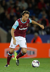 Mark Noble of West Ham United in action  - Mandatory byline: Jack Phillips/JMP - 07966386802 - 22/09/2015 - SPORT - FOOTBALL - Leicester - King Power Stadium - Leicester City v West Ham United - Capital One Cup Round 3