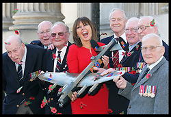 Carol Vorderman with Bomber Command veterans at the launch of the Bomber Command Memorial Fund's Poppy Salute Appeal in London, Wednesday 28th March 2012.   Photo by: Stephen Lock / i-Images