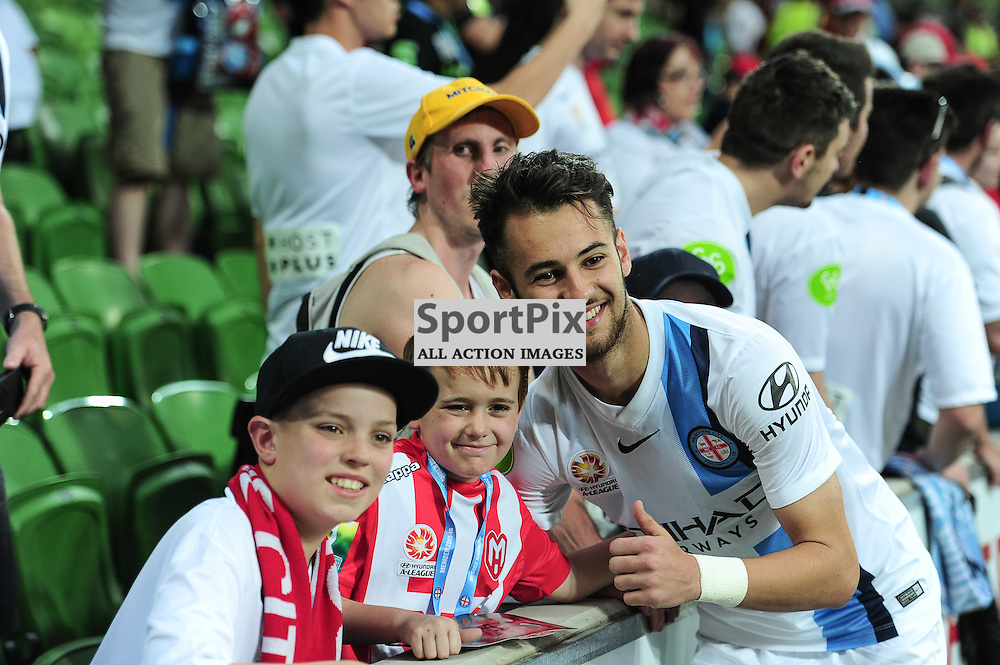 Steve Kuzmanovski of Melbourne City with fans at the end of the Hyundai A-League,  25th October 2015, RD 3, Melbourne City FC v Central Coast Mariners with a win to City 3:1 © Mark Avellino | SportPix.org.uk