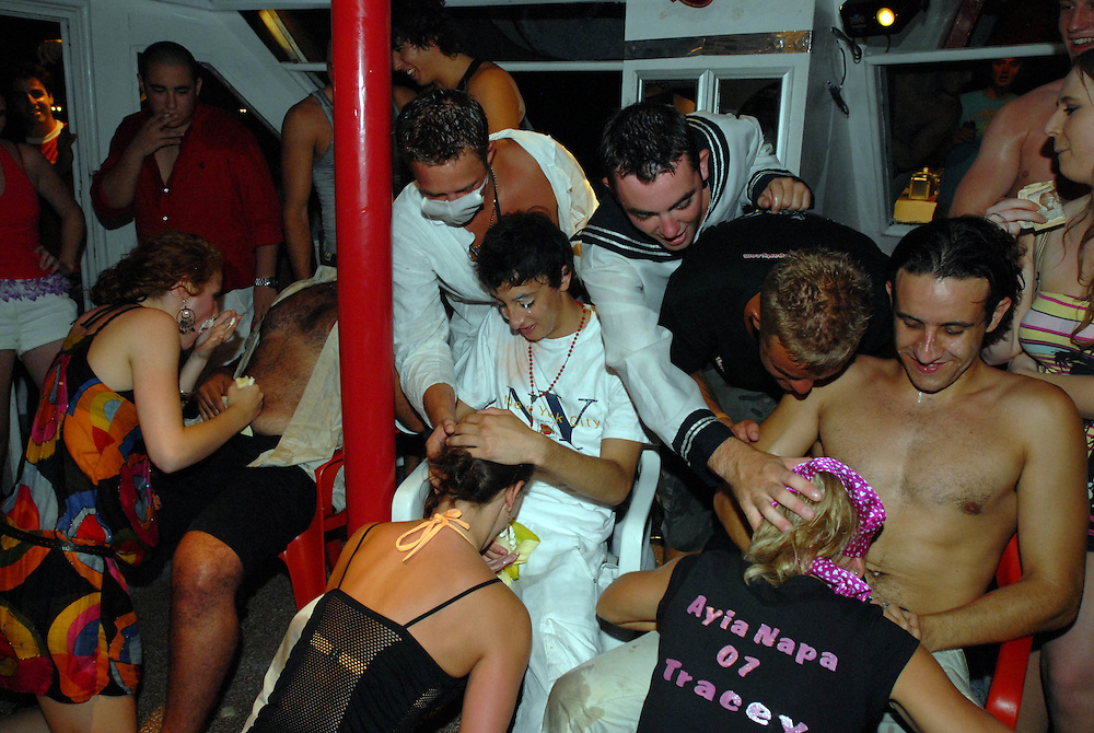 Fantasy boat party on board the Napa Queen in Ayia Napa, Cyprus. .18/8/2007.
