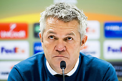 November 23, 2017 - Trondheim, NORWAY - 171123 KÅ're Ingebrigtsen, head coach of Rosenborg, during a press conference after the UEFA Europa League match between Rosenborg and Real Sociedad on November 23, 2017 in Trondheim..Photo: Jon Olav Nesvold / BILDBYRN / kod JE / 160081 (Credit Image: © Jon Olav Nesvold/Bildbyran via ZUMA Wire)
