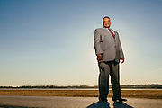 Executive portrait at airport.<br /> Photographed by editorial and commercial Houston photographer Nathan Lindstrom
