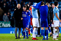 Manchester City manager Pep Guardiola puts an arm round Marc Albrighton of Leicester City - Mandatory by-line: Robbie Stephenson/JMP - 18/12/2018 - FOOTBALL - King Power Stadium - Leicester, England - Leicester City v Manchester City - Carabao Cup Quarter Finals