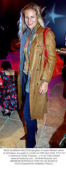 MISS ALANNAH WESTON daughter of Galen Weston owner of Selfridges, at a party in London on 28th April 2004.PTO 157