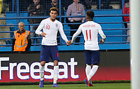 PODGORICA, MONTENEGRO - MARCH 25: England's Dele Alli<br /> and England's Callum Hudson-Odoi during the 2020 UEFA European Championships group X qualifying match between XX and XX at Podgorica City Stadium on March 25, 2019 in Podgorica, Montenegro. (MB Media)