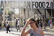 American food 2.0, is the title of United States Pavilion in Expo 2015, Rho-Pero, Milan, in June 2015. &copy; Carlo Cerchioli <br /> <br /> Cibo americano 2.0 &egrave; il titolo del padiglione degli Stati Uniti a Expo 2015, Rho-Pero, Milano, giugno 2015.