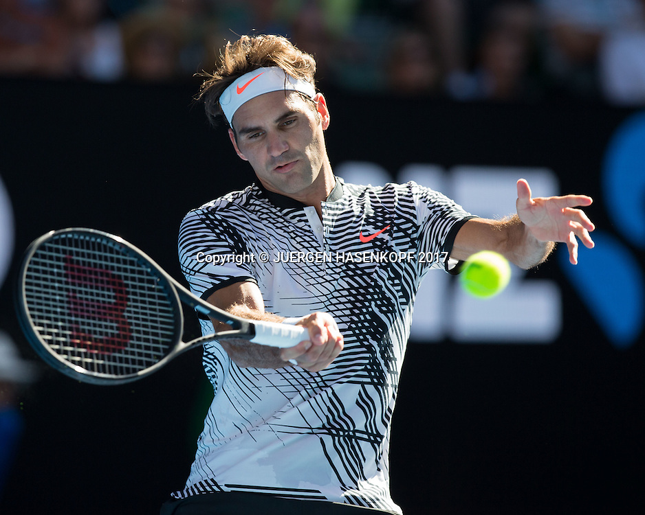 ROGER FEDERER (SUI)<br /> <br /> Australian Open 2017 -  Melbourne  Park - Melbourne - Victoria - Australia  - 18/01/2017.