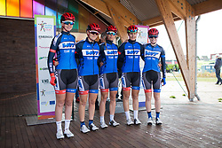\tnwt stand at the sign-on before Stage 3 of the Healthy Ageing Tour - a 154.4 km road race, between  Musselkanaal and Stadskanaal on April 7, 2017, in Groeningen, Netherlands.