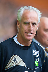 WOLVERHAMPTON, ENGLAND - Saturday, October 24, 2009: Wolverhampton Wanderers' manager Mick McCarthy during the Premiership match against Aston Villa at Molineux. (Photo by David Rawcliffe/Propaganda)