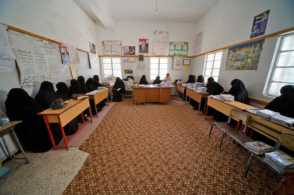 The girls school, the teachers' room during the 10 o'clock break.