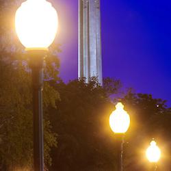 Vertical photo of Kansas City's Liberty Memorial/National World War One Museum, downtown Kansas City, Missouri - taken from Washington Square Park.