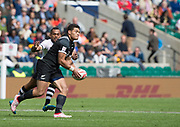 Twickenham, Surrey United Kingdom. Tone NG SHIU, running during the Pool C match, New Zealand vs Fiji, during the<br /> &quot;2017 HSBC London Rugby Sevens&quot;,  Saturday 20/05/2017 RFU. Twickenham Stadium, England    <br /> <br /> [Mandatory Credit Peter SPURRIER/Intersport Images]