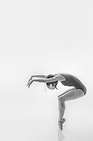 Black and white dance photography- Dance As Art Studio Series with dancer Jenna MacVicar