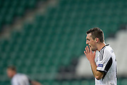 Legia's Michal Kucharczyk reacts after missed shoot during the UEFA Europa League Group J football match between Legia Warsaw and Apollon Limassol FC at Pepsi Arena Stadium in Warsaw on October 03, 2013.<br /> <br /> Poland, Warsaw, October 03, 2013<br /> <br /> Picture also available in RAW (NEF) or TIFF format on special request.<br /> <br /> For editorial use only. Any commercial or promotional use requires permission.<br /> <br /> Mandatory credit:<br /> Photo by &copy; Adam Nurkiewicz / Mediasport