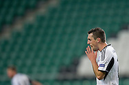 Legia's Michal Kucharczyk reacts after missed shoot during the UEFA Europa League Group J football match between Legia Warsaw and Apollon Limassol FC at Pepsi Arena Stadium in Warsaw on October 03, 2013.<br /> <br /> Poland, Warsaw, October 03, 2013<br /> <br /> Picture also available in RAW (NEF) or TIFF format on special request.<br /> <br /> For editorial use only. Any commercial or promotional use requires permission.<br /> <br /> Mandatory credit:<br /> Photo by © Adam Nurkiewicz / Mediasport