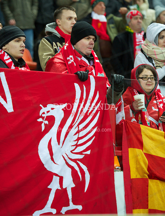 MOSCOW, RUSSIA - Thursday, November 8, 2012: Liverpool supporters during the UEFA Europa League Group A match against FC Anji Makhachkala at the Lokomotiv Stadium. (Pic by David Rawcliffe/Propaganda)