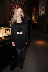 LIZZY PATTINSON at a party to celebrate the publication of Nathalie von Bismarck's book 'Invisible' held at Asprey, 167 New Bond Street, London on 9th December 2010.