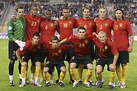 Fotball<br /> 22.08.2007<br /> EM-kvalifisering<br /> Belgia v Serbia<br /> Foto: PhotoNews/Digitalsport<br /> NORWAY ONLY<br />   <br /> Lagbilde Belgia<br /> STIJN STIJNEN - VINCENT KOMPANY - GABY MOUDINGAYI - MOUSSA DEMBELE - BART GOOR - TIMMY SIMONS - CARL HOEFKENS - KEVIN MIRALLAS - STEVEN DEFOUR - THOMAS VERMAELEN - KAREL GERAERTS
