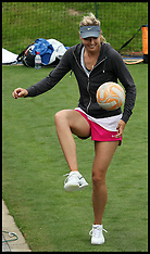 June 25 2013 Maria Sharpova playing football at Wimbledon bb