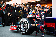 February 26, 2017: Circuit de Catalunya. Scuderia Toro Rosso team launch of the STR12 with Carlos Sainz Jr. (SPA)
