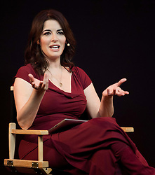 TV Chef and Writer Nigella Lawson speaks to the public about her cookbooks, TV series and award-winning apps at Apple Store, London, United Kingdom, October 29, 2012. Photo by Nils Jorgensen / i-Images.<br /> File Photo  - Nigella Lawson and Charles Saatchi PAs cleared of fraud. The trial of Francesca Grillo, 35, and sister Elisabetta, 41, heard they spent £685,000 on credit cards owned by the TV cook and ex-husband Charles Saatchi.<br /> Photo filed Monday 23rd December 2013