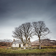 Lettermore croft, Sutherland. Sadly abandoned but much loved by photographers, bleak yet bonny in the dreich afternoon