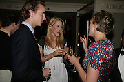 James Byrom, Emily Lopes and Rosalie Barkes, New Collectors Evening. Grosvenor House Antiques Fair. Park Lane. 19 June 2007.  -DO NOT ARCHIVE-© Copyright Photograph by Dafydd Jones. 248 Clapham Rd. London SW9 0PZ. Tel 0207 820 0771. www.dafjones.com.