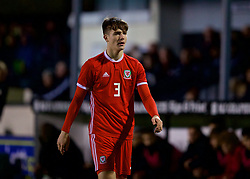 RHYL, WALES - Wednesday, November 14, 2018: Wales' Morgan Boyes during the UEFA Under-19 Championship 2019 Qualifying Group 4 match between Wales and Scotland at Belle Vue. (Pic by Paul Greenwood/Propaganda)