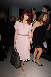 FLORENCE WELCH at the W Hotels & American Express launch for the James Small collection at Number One Leicester Square, London on 22nd September 2010.